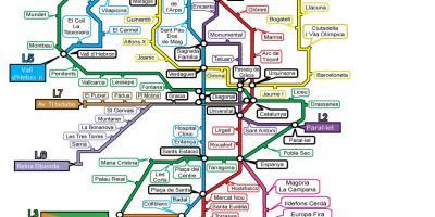 Barcelona Karti Kart Barselona Ispaniya Kataloniya